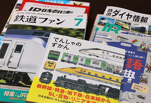鉄道雑誌なども充実